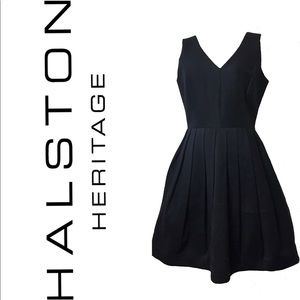 Halston Heritage Black Dress Sz 6